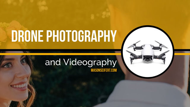 drones for wedding photography